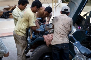 Lotos Rallye, fixing jeep